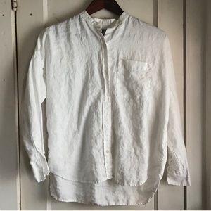Everlane linen oversized shirt size 0